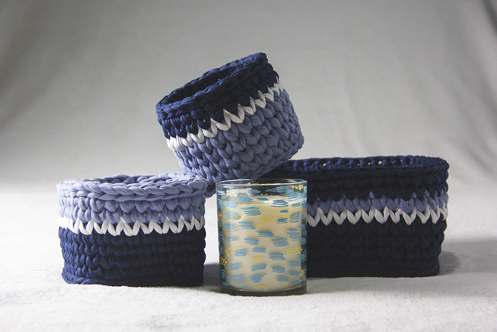 Product Photography of Blue Collection