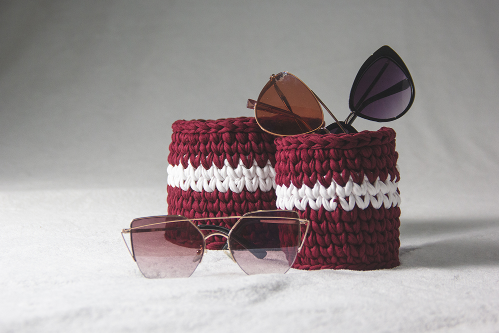 Product Photography of Burgundy and White Collection